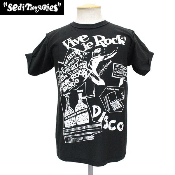 정규 취급점 SEDITIONARIES by 666 (세디쇼나리즈) Vive Le Rock(비바라록크) T셔츠 BLACK 블랙 STZ010
