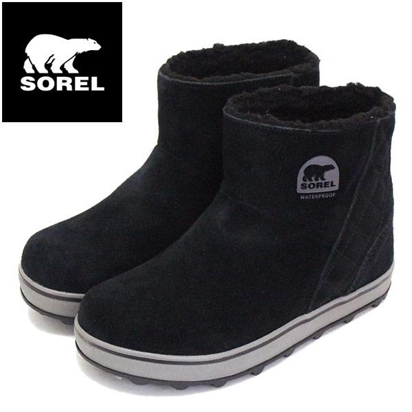 正規取扱店 SOREL (ソレル) LL5195 GLACY SHORT グレイシーショート レディース スノーブーツ 防水 010 BLACK/SHARK SRL030