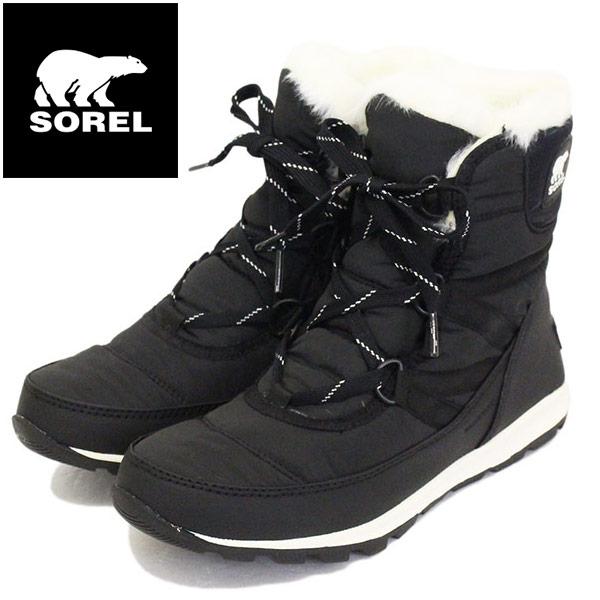 正規取扱店 SOREL (ソレル) NL2776 WHITNEY SHORT LACE ウィットニーショートレース レディース スノーブーツ 防水 010 BLACK SRL025