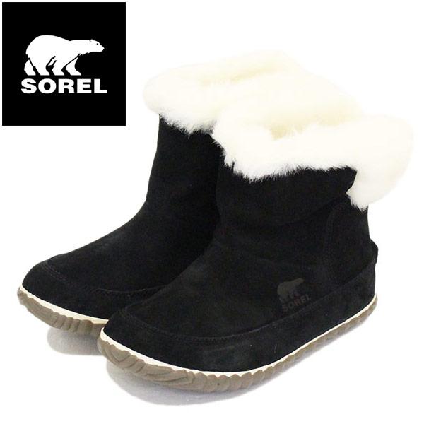 正規取扱店 SOREL (ソレル) NL3073 OUT N ABOUT BOOTIE アウトアンドアバウトブーティー レディース ブーツ 011 BLACK SRL032