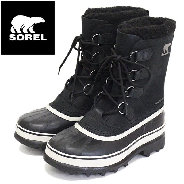 正規取扱店 SOREL (ソレル) NM1000 CARIBOU カリブー メンズ スノーブーツ 016 BLACK/DARKSTONE SRL001