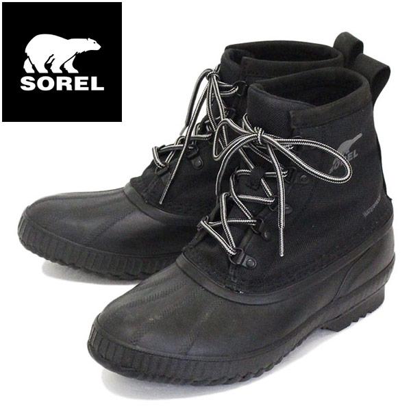 正規取扱店 SOREL (ソレル) NM2340 CHEYANNE II SHORT シャイアンIIショート メンズ レインブーツ 防水 010 BLACK SRL053