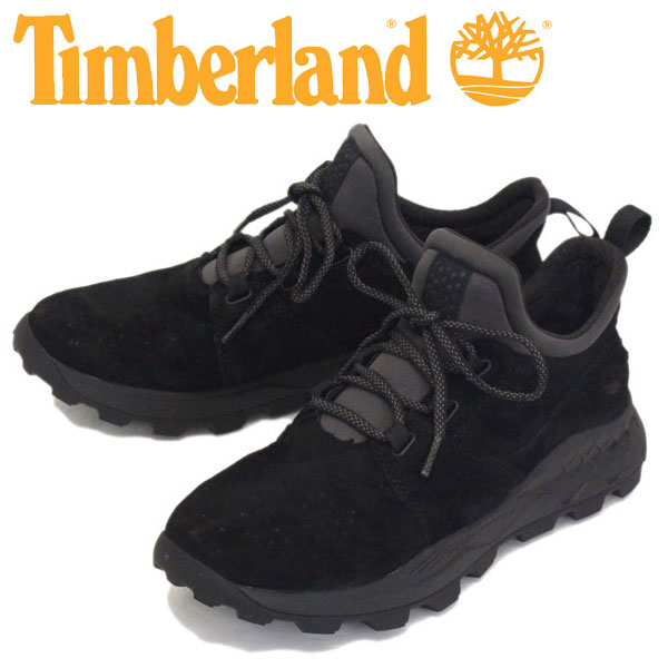 Regular dealer Timberland (Timberland) A1W9B BROOKLYN OXFORD Brooklyn Oxford leather sneakers Black Suede TB069