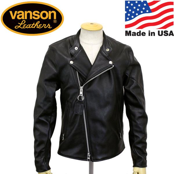 正規取扱店 VANSON (バンソン) Chopper minus(チョッパーマイナス) ライダース レザージャケット BLACK