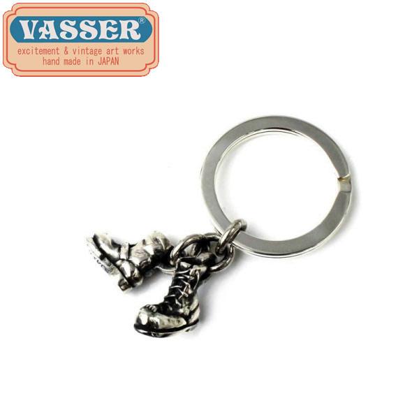 正規取扱店 VASSER(バッサー) Biker Boot Cracker Key Chain Silver(バイカーブーツクラッカーキーチェーンシルバー)