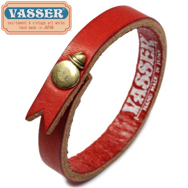 正規取扱店 VASSER(バッサー)Hat Boy Leather Bracelet Red(ハットボーイレザーブレスレットレッド)