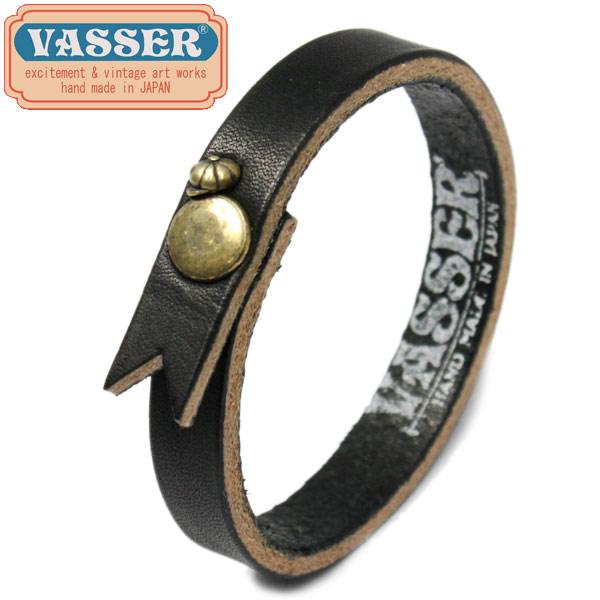 正規取扱店 VASSER(バッサー)Casquette Boy Leather Bracelet Black(キャスケットボーイレザーブレスレットブラック)