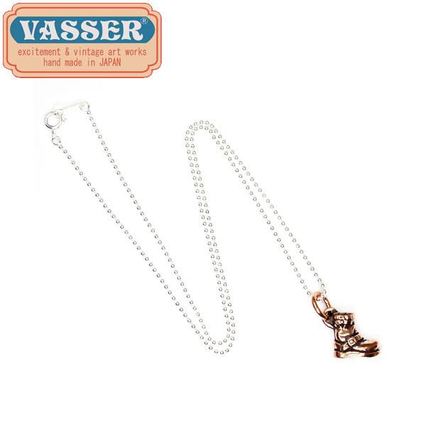正規取扱店 VASSER(バッサー) Biker Boot Pendant Copper w/Silver Ball Chain(バイカーブーツペンダント コッパー)