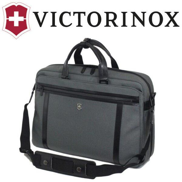 正規取扱店 VICTORINOX (ビクトリノックス) 604690 Works Professional Technician 15 Expandable ビジネス ブリーフケース ショルダーバッグ GRAY VX037