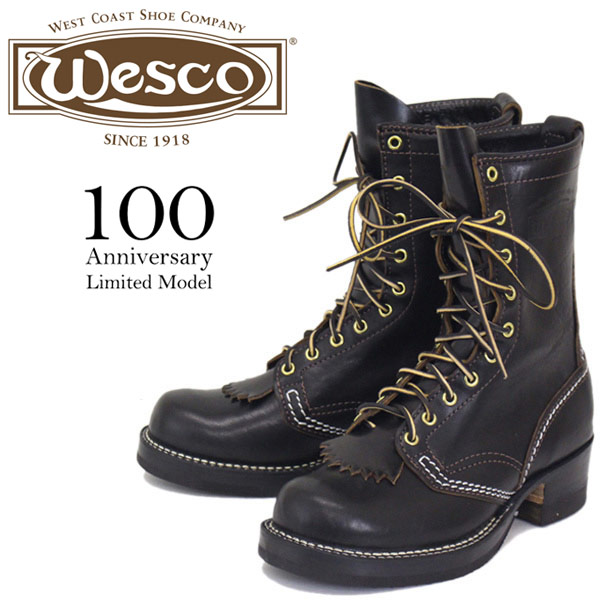 33a97be0be3 BS84 made in the regular dealer-limited Wesco (Wesco Inc.) 100th  Anniversary Model JOBMASTER 1st jobmaster 10H horsehide leather boots BLACK  United ...