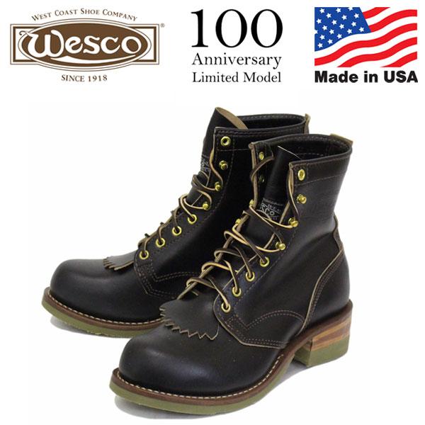 正規取扱店 限定 WESCO (ウエスコ) 100th Anniversary Model 38RT Horsehide Jobmaster ホースハイド ジョブマスター ブーツ BLACK JM60