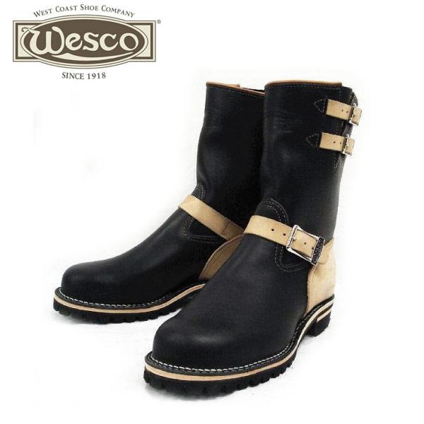 正規取扱店 正規ディーラー Wescoウエスコ Boss ボス Black,10height,#100 sole,Lower Heel, Wescoバックル,2トーン,Steel Toe,Lining BS34