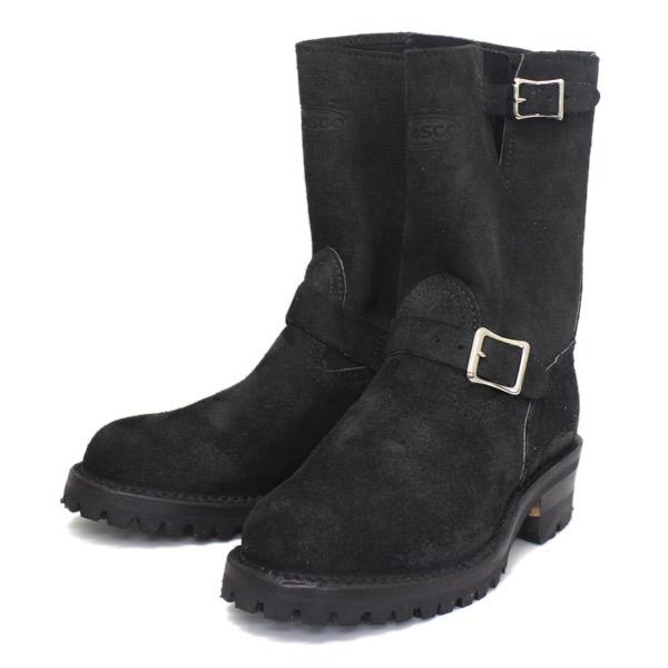 正規取扱店 正規ディーラー Wescoウエスコ Boss ボス Black Roughout黒裏革,9height,#100 sole,ALLBlack Stitching,エンジニアブーツ BS81