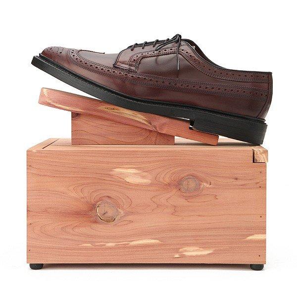 ウッドロア シューケアボックス(蓋に靴置きが固定された、シューケアの気分があがるシューケア収納ボックス)