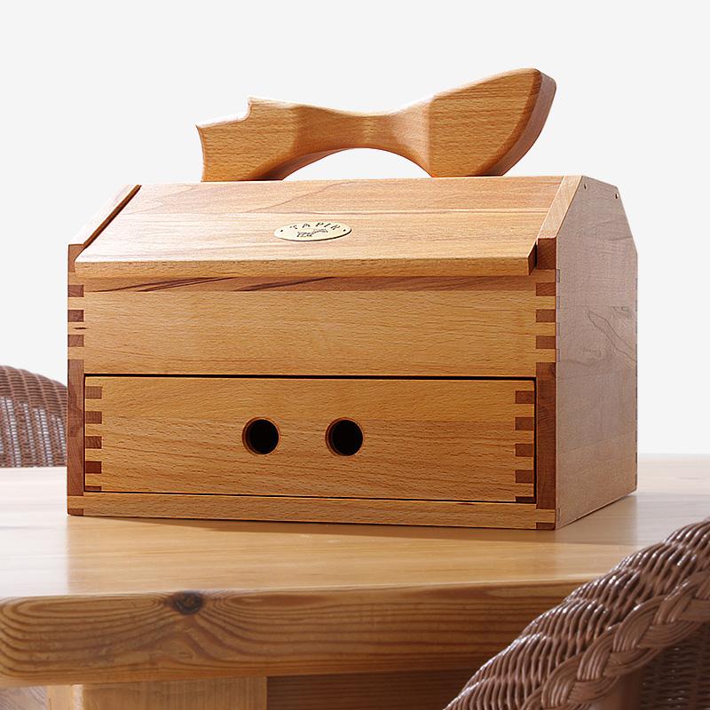 タピール 木の道具箱・大(上質感あふれる天然木、ハンドメイドのシューケア収納ボックス)