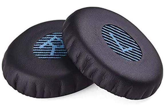 1000円 耳に優しい柔らかい人工皮革を使用 音漏れ防止 Bose イヤーパッド イヤークッション 交換用パッド ヘッドホン カバー 純正型番 On-Ear 2 (OE2  OE2i)/ Soundlink On-Ear (OE)/ SoundTrue On-Ear (OE) 等に適合 PUレザー製 1ペア入 ブラック / ブラウン(内側はブルー)互換品