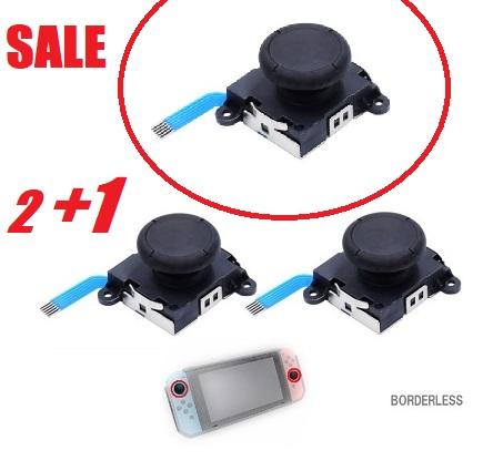 送料無料 任天堂スイッチ joy-con joycon 交換用パーツ 30日保証 Nintendo Switch スイッチ ジョイコン 修理 受注生産品 交換 アナログ 不具合 黒2+1個セット スティック 勝手に動く 故障 L 計3ヶ 説明書付き R 休日 症状に
