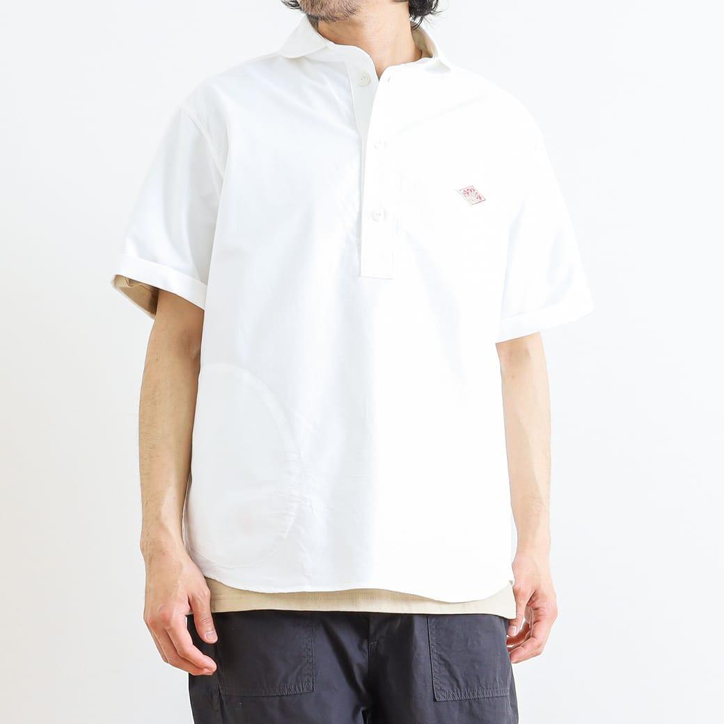 ダントン DANTONオックスフォード 丸襟プルオーバーシャツ 半袖OXFORD S/S PULLOVER SHIRTJD-3569YOXメンズ トップス シャツ