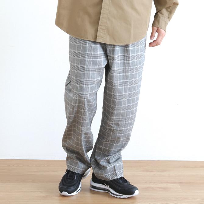 ジョンブル Johnbull チェックワイドイージーパンツ Check Wide Easy Pants 21315 ブラック系