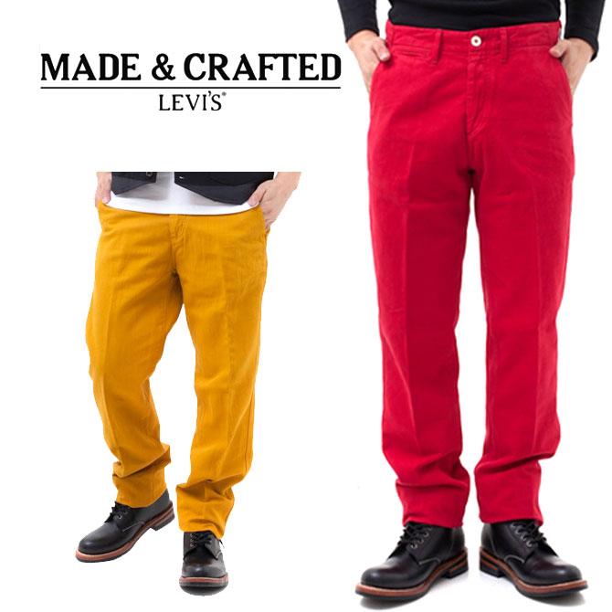 【送料無料】メンズ LEVI'S リーバイス Made&Crafted Drill Chino ドリルチノ 05136-0008Golden Yellow 0008Jester Red 0010 Bistre 0006 【ky】