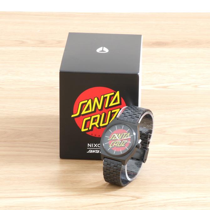 NIXONニクソンTime Teller SANTA CRUZ COLLETIONタイムテラー サンタクルーズコレクションNA0452895Black/Santa Cruzユニセックス 腕時計 アナログ ステンレス