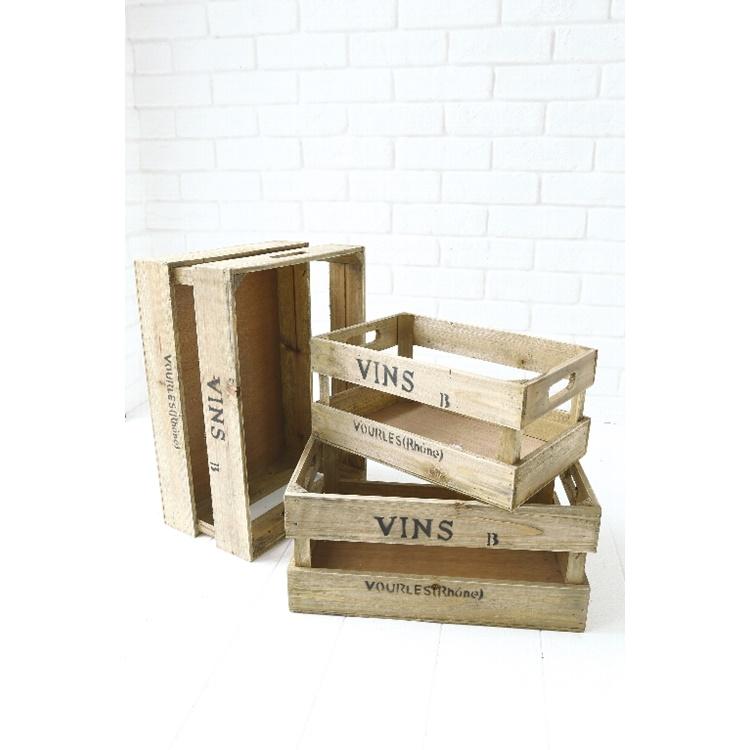 ガーデンスプリットボックス・3点セット RX-04 ■■ COVENT GARDEN 木箱 BOX ウッド ボックス 収納 ガーデン インテリア ディスプレイ カフェ 木製 北欧 アンティーク調 コベント ガーデン プレゼント