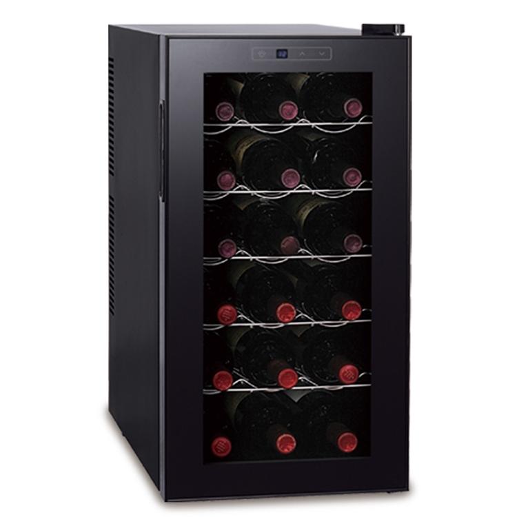 ワインセラー 18本収納 KK-00512 ■■ D-STYLIST ディースタイル ワイン 瓶 18本 温度管理 スリム 省スペース コンパクト インテリア シンプル デザイン カジュアル ダイニング ワインクーラー ワイン格納庫 母の日 こどもの日