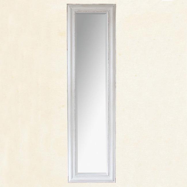 フレンチウッドスタンドミラー ホワイト SQM702 ■■ SPICE フレーム 鏡 北欧 シンプル アンティーク調 ブロカント ゴージャス クラシック シャビー シック 姿見 プレゼント