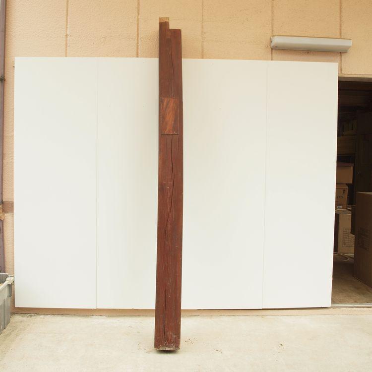 欅古木柱B 200×200×2510 □□ bosky ケヤキ けやき 古材 柱 梁 べんがら プレゼント