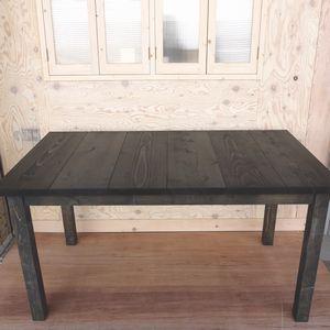 セーヴルテーブル 1370 DB ■■ bosky 送料無料 テーブル パイン 無垢 ダークブラウン 木 木製 アンティーク 北欧 ナチュラル 食卓 ダイニング ダイニングテーブル 国産 高級 職人 手作り 手作業 日本製 4人掛け