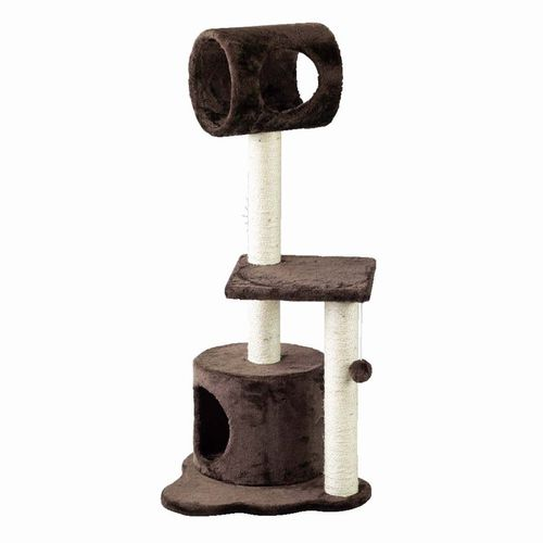 HMLY4080BR ■PAW-PAW CAT TREE BROWN 猫 ネコ ねこ キャットタワー ハウス トンネル 爪とぎ つめとぎ 遊具 ペット お年玉 プレゼント