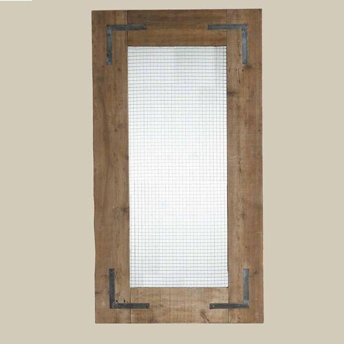 GRILL LARGE MIRROR HAN001 ■■ SPICE スパイス 送料無料 鏡 ミラー 姿見 大型 店舗 パイン 木製 グリルメッシュ