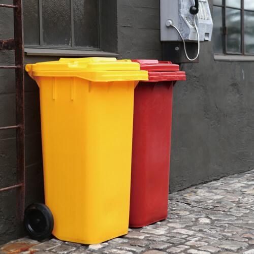 PLASTIC TRASH CAN 65L 100-198 ■■ FL DULTON アイボリー ブラウン ダストボックス 屋外 屋内 大型 くずかご ダルトン プレゼント