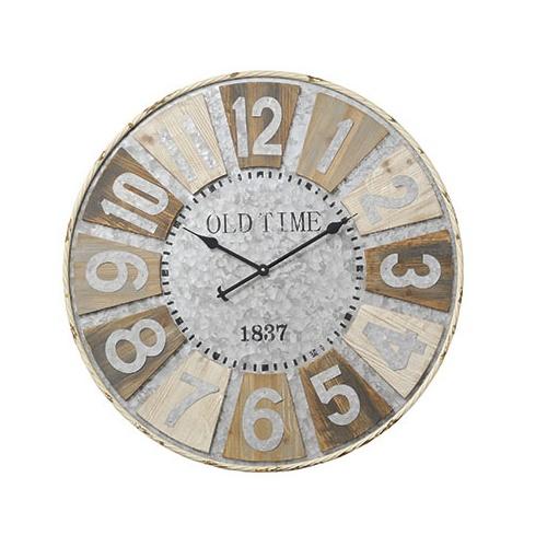 巨大時計(幅80cm)【14-16】■【時計 壁掛け時計 掛け時計 掛時計 壁掛け アナログ時計 巨大 大きい おしゃれ ヴィンテージ アンティーク調 円形 丸型 お手頃 男前インテリア パセオ PASEO】