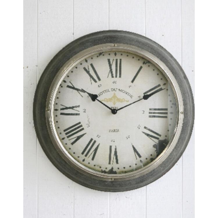 シルバーリム・ウォールクロック BR-59 ■■ COVENT GARDEN 壁掛け時計 時計 シンプル クール かっこいい アンティーク調 コベントガーデン コベント ガーデン プレゼント
