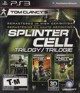 【中古】 PS3 北米版 Splinter Cell Trilogy トムクランシー スプリンターセル トリロジー 英語・フランス語2ヶ国語版