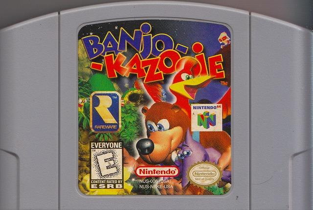 【中古】 N64  北米版 BANjO KAZOOiE バンジョーとカズーイの冒険(ソフト単品)