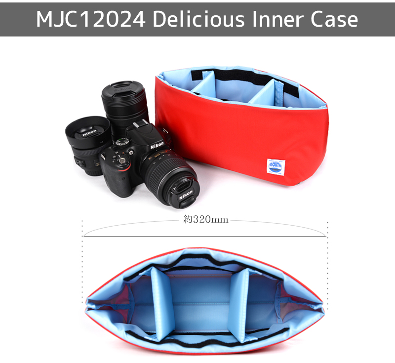 DSLR camera bag inner bag soft cushion box made in Japan MOUTH Delicious case MJC12024 NAVY/ORANGE