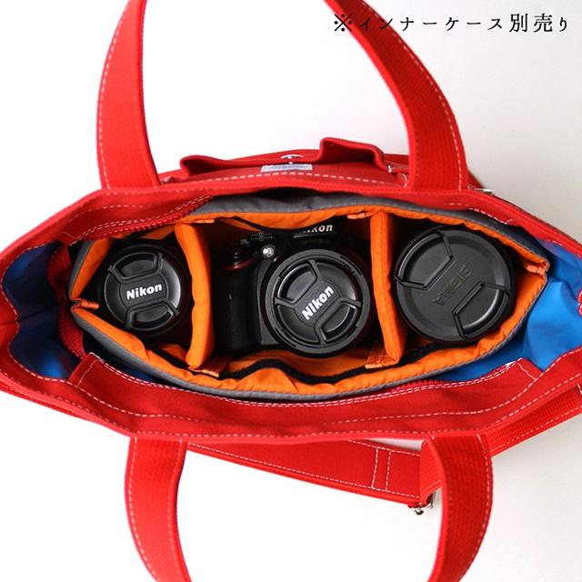 マウス Sサイズ カメラトートバッグ 日本製 マウス 【一眼レフ ミラーレス おしゃれ レンズ2本 帆布 キャンバス MadeinJAPAN 保護 船形 舟 兼用 カメラ女子】 MOUTH レッド MJT13033-RED 女子 カメラバッグ 104トート ショルダーバッグ