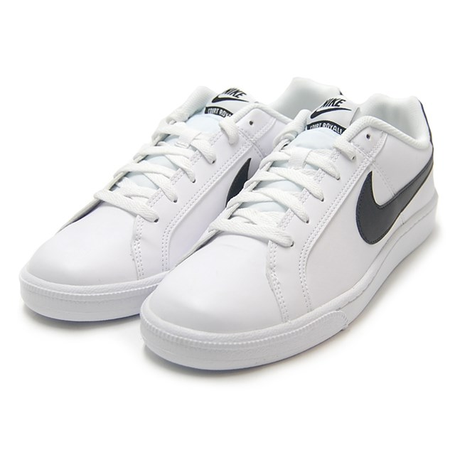 NIKE Nike men's sneakers COURT ROYALE SL Court Royal SL white/black 844802-100 [simple Street, low-cut]