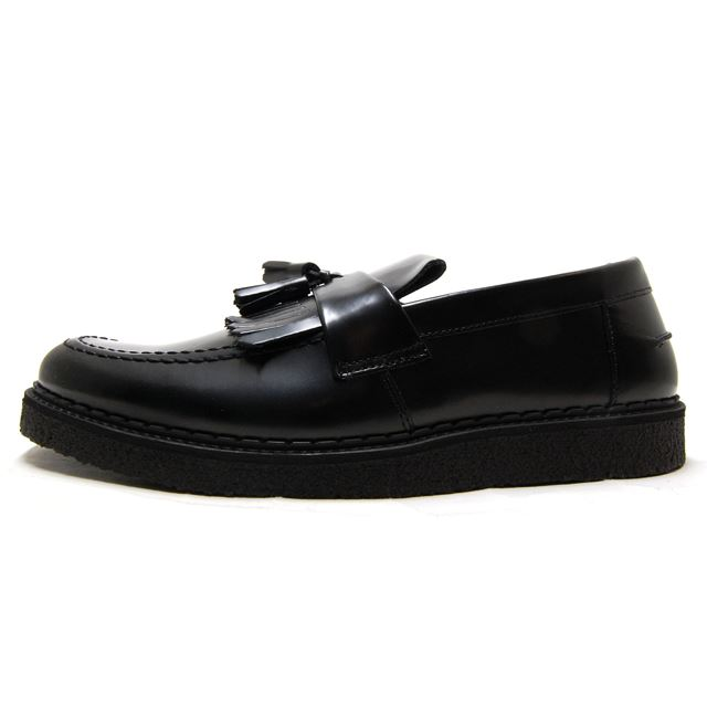 FRED PERRY Fred Perry mens Womens sneakers FRED PERRY X GEORGE COX TASSEL  LOAFER LEATHER BLACK black B8278-102