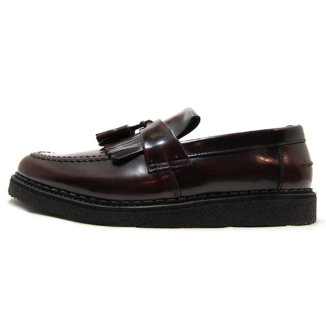 FRED PERRY Fred Perry mens Womens sneakers FRED PERRY X GEORGE COX TASSEL  LOAFER LEATHER OXBLOOD ...