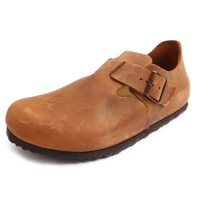 dcb7bb4e6f2 BIRKENSTOCK Birkenstock mens Womens sneakers LONDON London OILED LEATHER  oiled leather ANTIK BROWN antique Brown GS166563  unisex   cut   brown    shoes ...