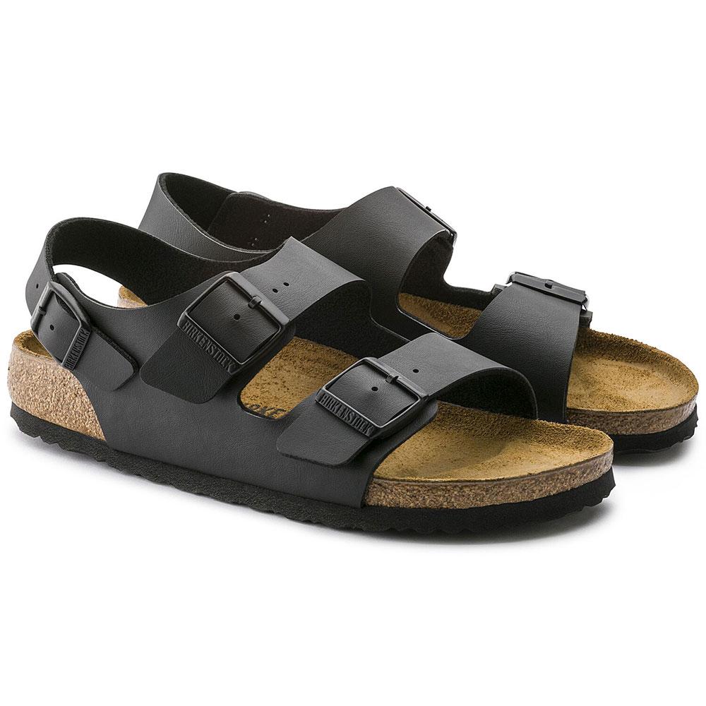 BIRKENSTOCK men women sandal MILANO BIRKO FLOR BLACK GC034791 GC034793