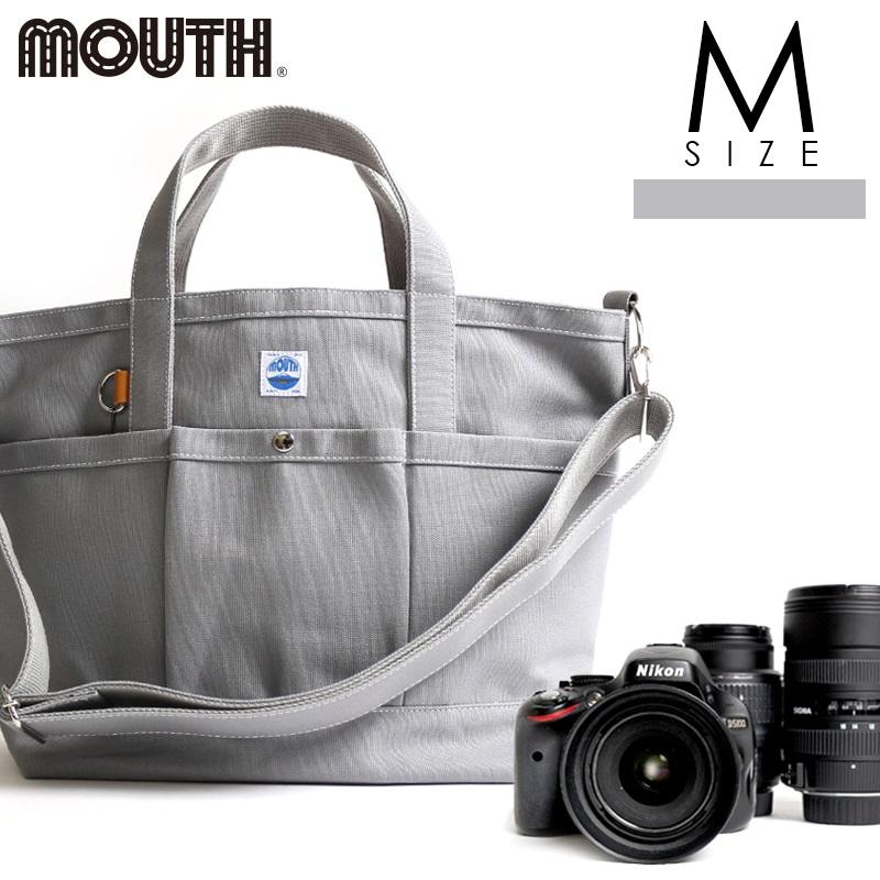 トートバッグ カメラトート カメラバッグ MOUTH マウス 106トート Mサイズ グレー 日本製 MJT13032-GRAY