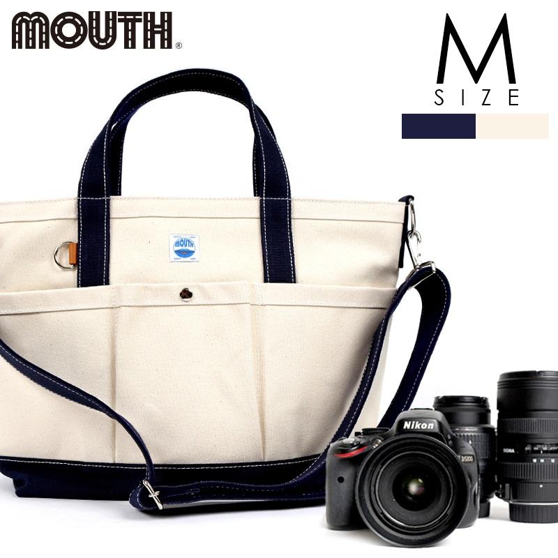 トートバッグ カメラトート カメラバッグ MOUTH マウス 106トート Mサイズ ナチュラル ネイビー 日本製 MJT13032-NAT NVY