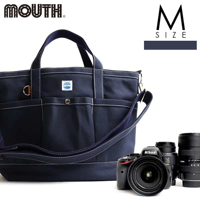 トートバッグ カメラトート カメラバッグ MOUTH マウス 106トート Mサイズ ネイビー 日本製 MJT13032-NAVY