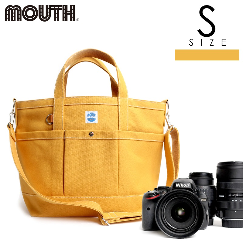 トートバッグ カメラトート カメラバッグ MOUTH マウス 104トート Sサイズ マスタード イエロー 日本製 MJT13033-MUSTARD