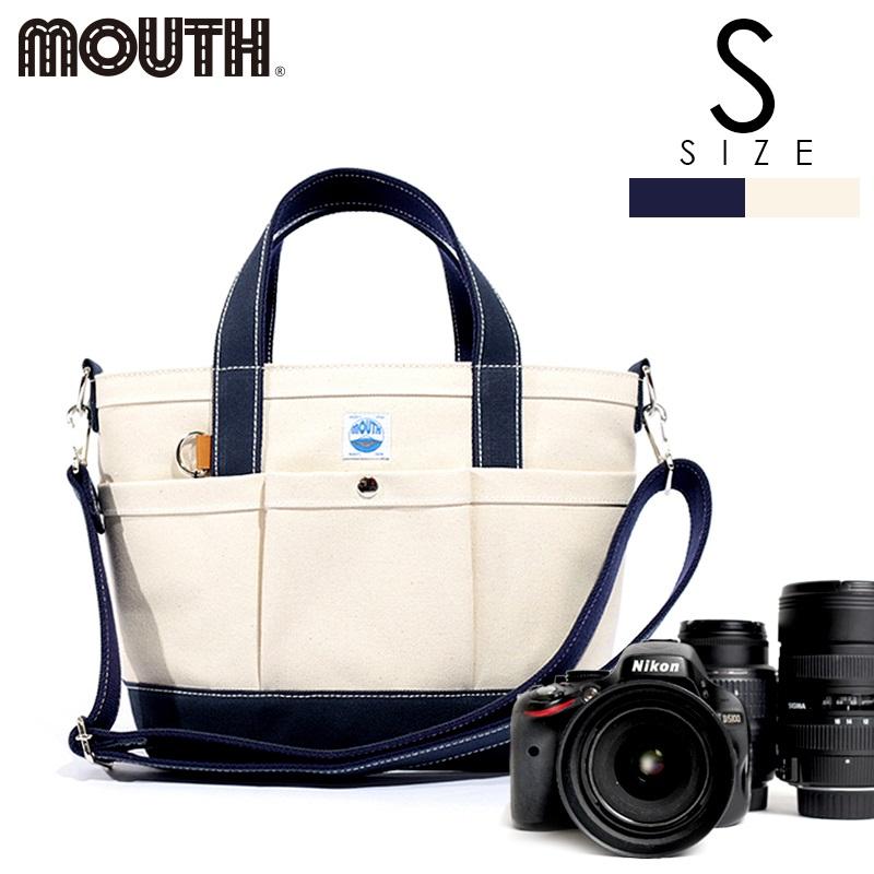 トートバッグ カメラトート カメラバッグ MOUTH マウス 104トート Sサイズ ナチュラル ネイビー 日本製 MJT13033-NATURAL NAVY