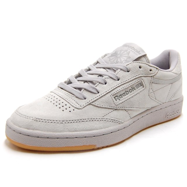 ea25d183e6ca6 Reebok Reebok men gap Dis sneakers CLUB C 85 TG steel   carbon gum BD1886   sporty white   suede   casual